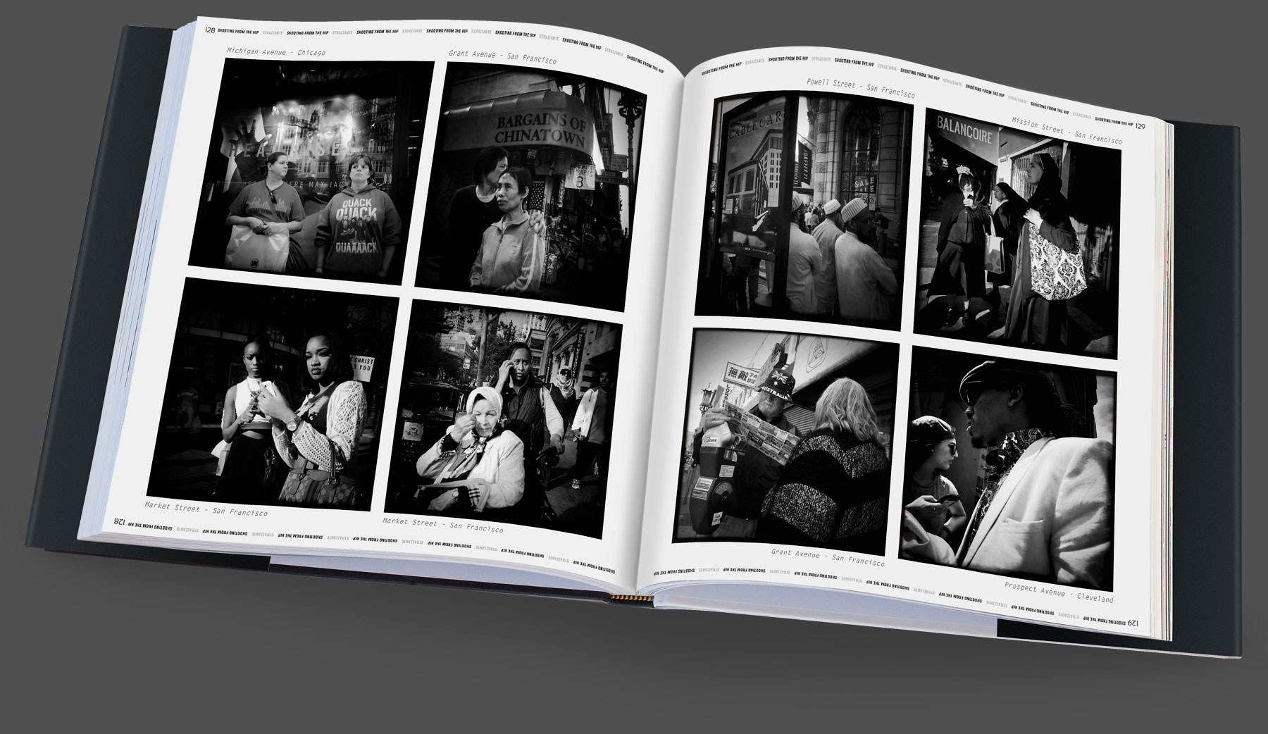 Shooting from the Hip Book Page by Scott Strazzante